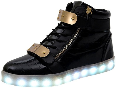 online store 02478 87ae0 LED Shoes High Tops – Bling – THE LED LIGHT UP STORE   Global Family ...